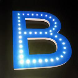 Lettres PVC à LED apparentes