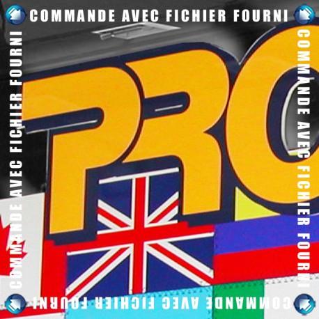 Panneau PVC 10mm Texte Adhésif - Upload
