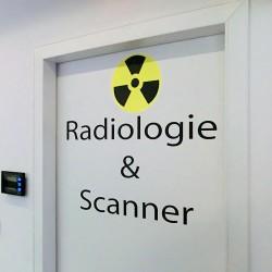 Lettres adhésives Radiologie et Scanner