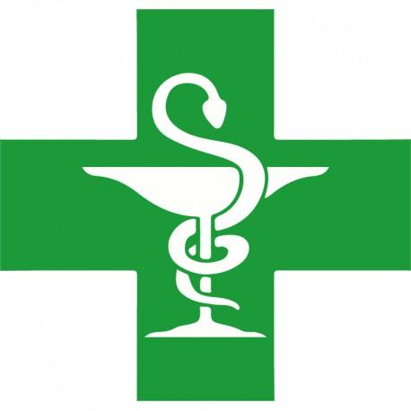 Caducée pharmacie PVC 50cm