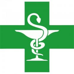 Croix caducée pharmacie PVC 19mm x 75cm