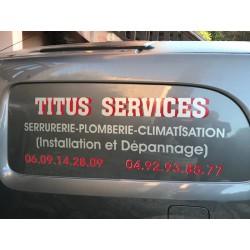 Lettres adhésives TITUS SERVICES