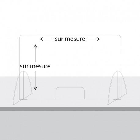 Paroi de protection Plexiglas sur mesure