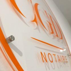 Plaque CGD Notaire en Plexiglas 5mm
