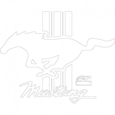 Logo Mustang GT PVC 10mm