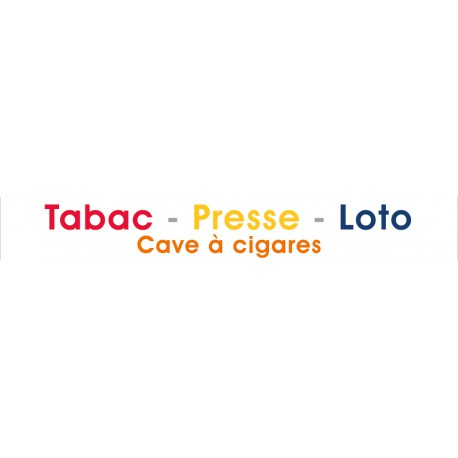 Caisson Tabac lettres relief lumineuses