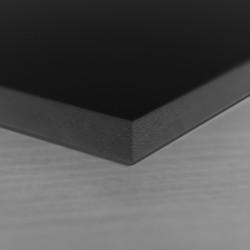 Panneau PVC noir 19mm vierge