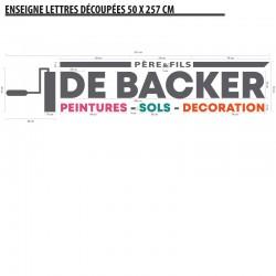 Lettres Alu Peintures De Backer