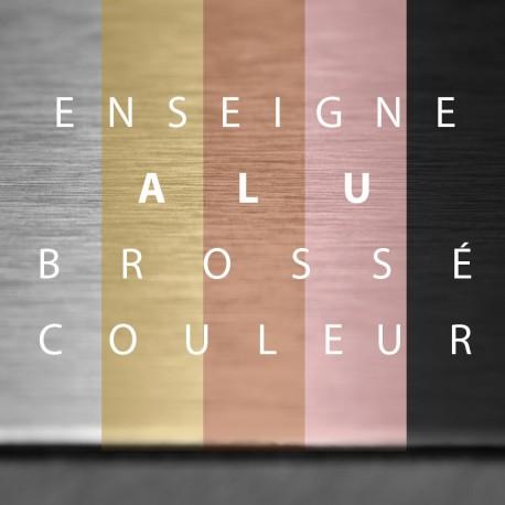 Panneau Alu brossé 3mm Texte Adhésif