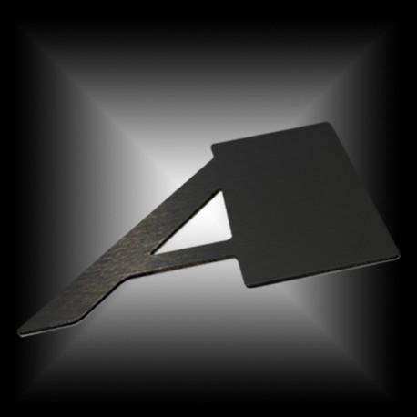 Lettres Alu brossé noir