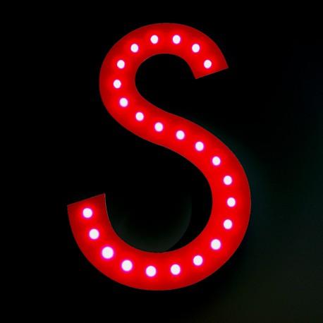 Lettres LED apparentes