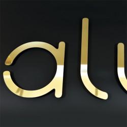 Lettres Alu miroir or