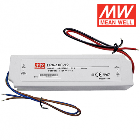 Alimentation LED MEAN WELL LPV-100-12