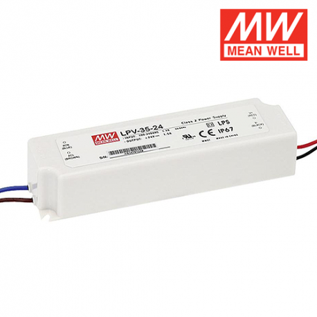 Alimentation LED MEAN WELL LPV-35-24