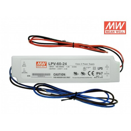Alimentation LED MEAN WELL LPV-60-24