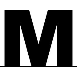 Lettre M boîtier 3cm 1M25x1M50