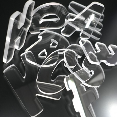 Lettres Plexi 8mm brutes