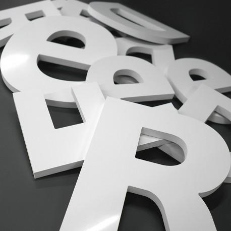 Lettres PVC 19mm brutes