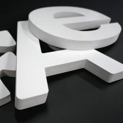 Lettres PVC 30mm brutes