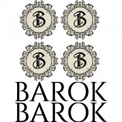 BAROK - 4 Logos + 2 textes PVC 19mm rétroéclairé