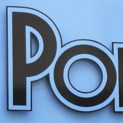 PODIUM Lettres PVC noir