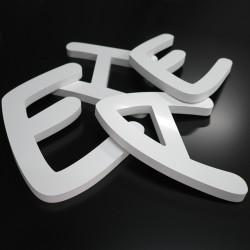 Lettres PVC 24mm brutes