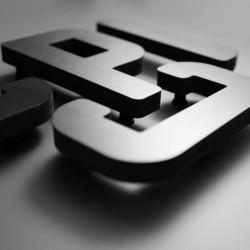 Lettres PVC Noir 19mm