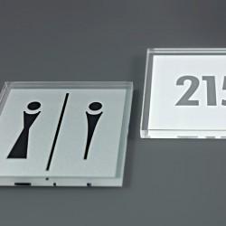 Plaque de porte Plexiglas