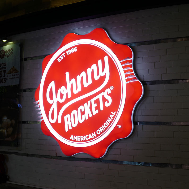 Enseigne Johnny Rockets vue 3