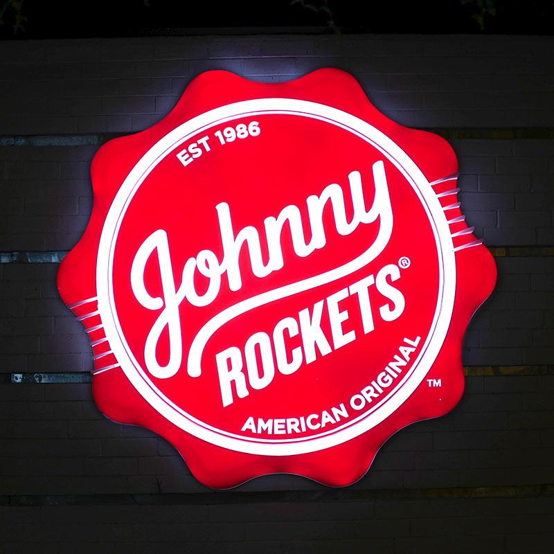 Enseigne Johnny Rockets vue 2