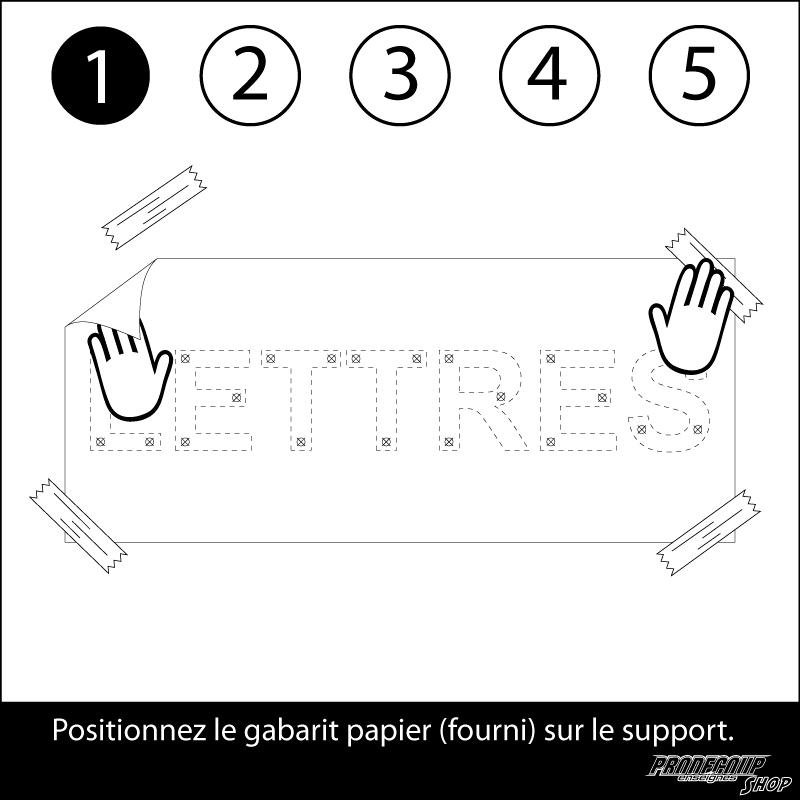 Notice de pose des lettres en relief - 1