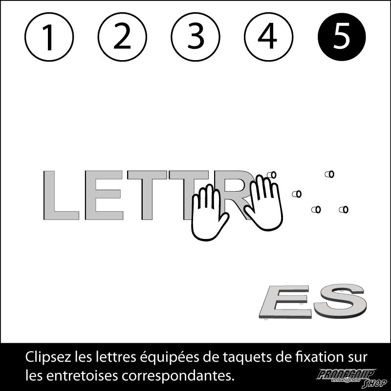 Notice de pose des lettres en relief - 5