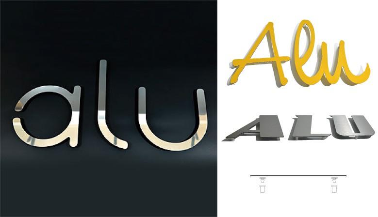Lettres aluminium Dibond