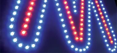 Lettres à LED apparentes